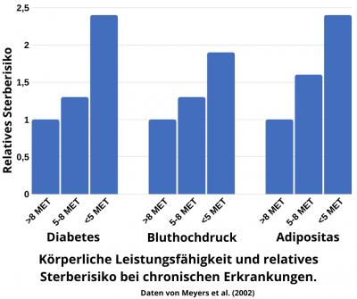 Körperliche Leistungsfähigkeit erhöht die Lebenserwartung